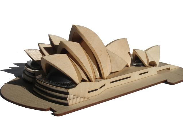 Model of opera house