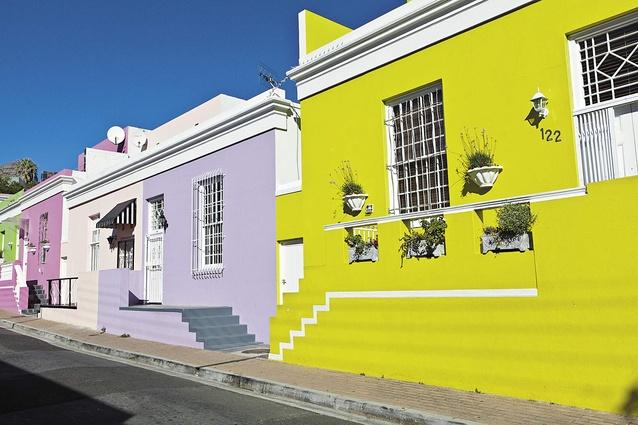 Colourful Bo-Kaap houses.