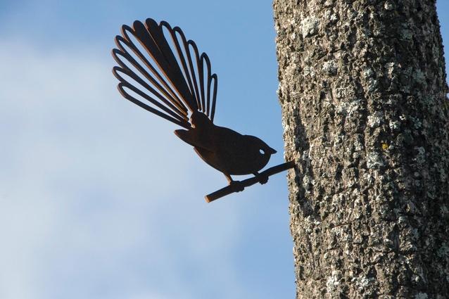 'Piwakawaka' Metal Bird by Phil Walters.