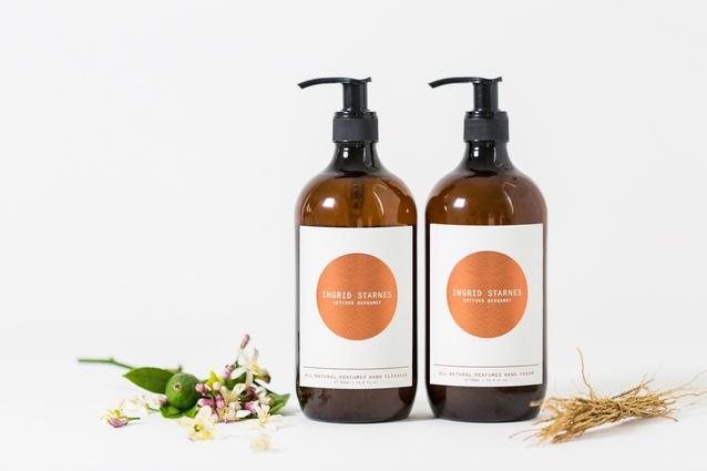 "<a  href="" http://www.ingridstarnes.com/fragrance-skincare-gifts/products/vetyver-bergamot-hand-cream-all-natural-500ml"" target=""_blank""><u>Ingrid Starnes</u></a> Vetyver Bergamot hand cleanser and hand cream 500ml set $139."