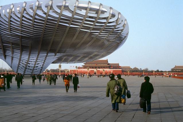 Tom Kovac's virtual Beijing Pavilion was seemingly in Tiananmen Square, Beijing, 2006.