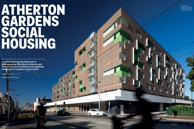Atherton Gardens Social Housing by McCabe Architects and Bird de la Coeur Architects.