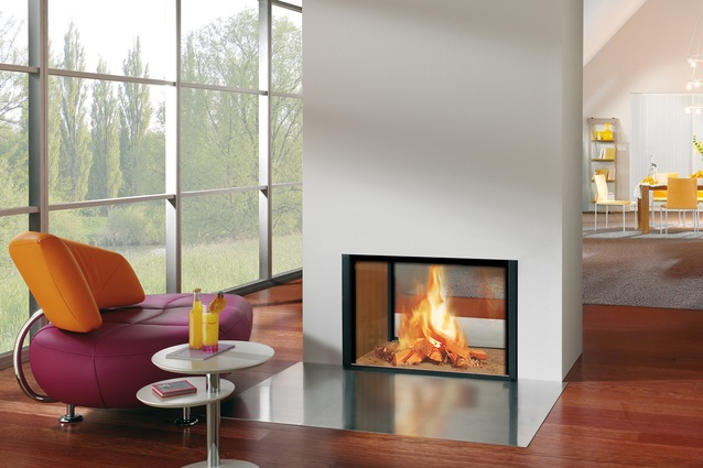 "<a href=""http://www.spartherm.com/en/products/fireplace-inserts/product/show/arte-3rl-100h/"" target=""_blank""><u>Spartherm Arte</u></a> is a double-sided wood fire is of an elegant and linear design."