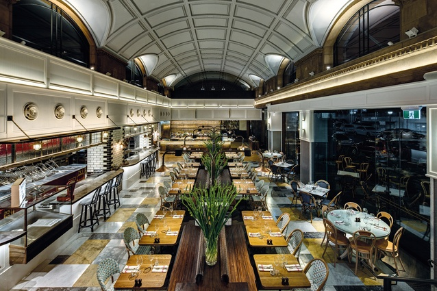The Market place dining area provides a communal experience and harks back to the restaurant's early-1900s Manhattan inspiration.