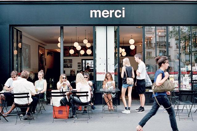 Merci café and boutique.