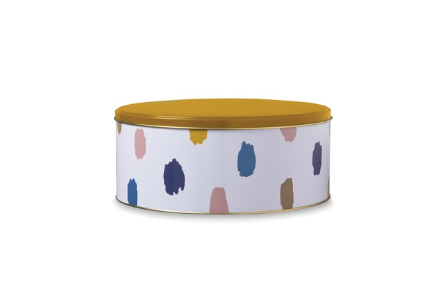 "Palette round cake tin | <a href=""http://shop.cittadesign.com/products/palette-round-cake-tin"" target=""_blank""><u> $19.90 from Citta Design.</u></a>"