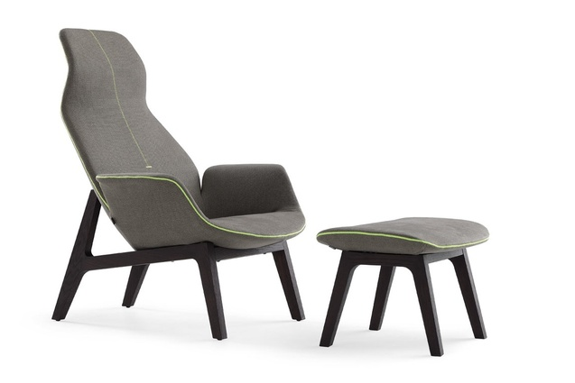 Ventura Lounge with footstool by Jean-Marie Massaud.