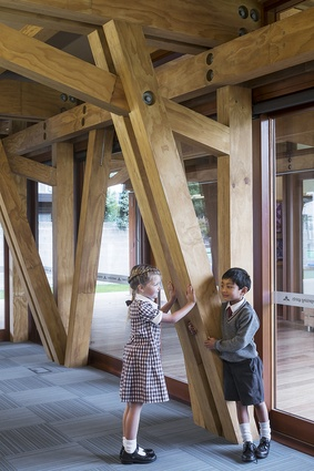 Finalist: Craftsmanship – Junior School timber structure (Christchurch) by Andrew Barrie Lab & Tezuka Architects.