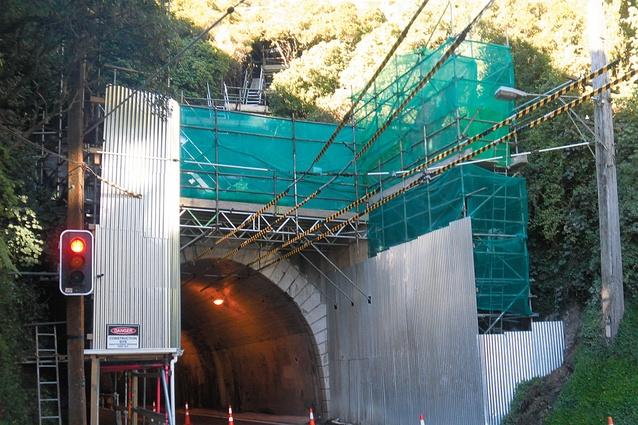 Western portal scaffolding.