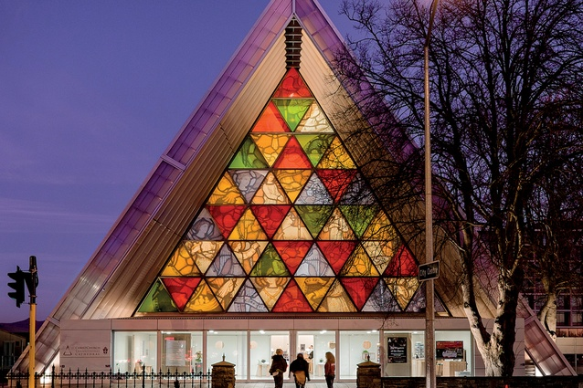 Christchurch Transitional (Cardboard) Cathedral, designed by Shigeru Ban Architects, in association with Warren and Mahoney.