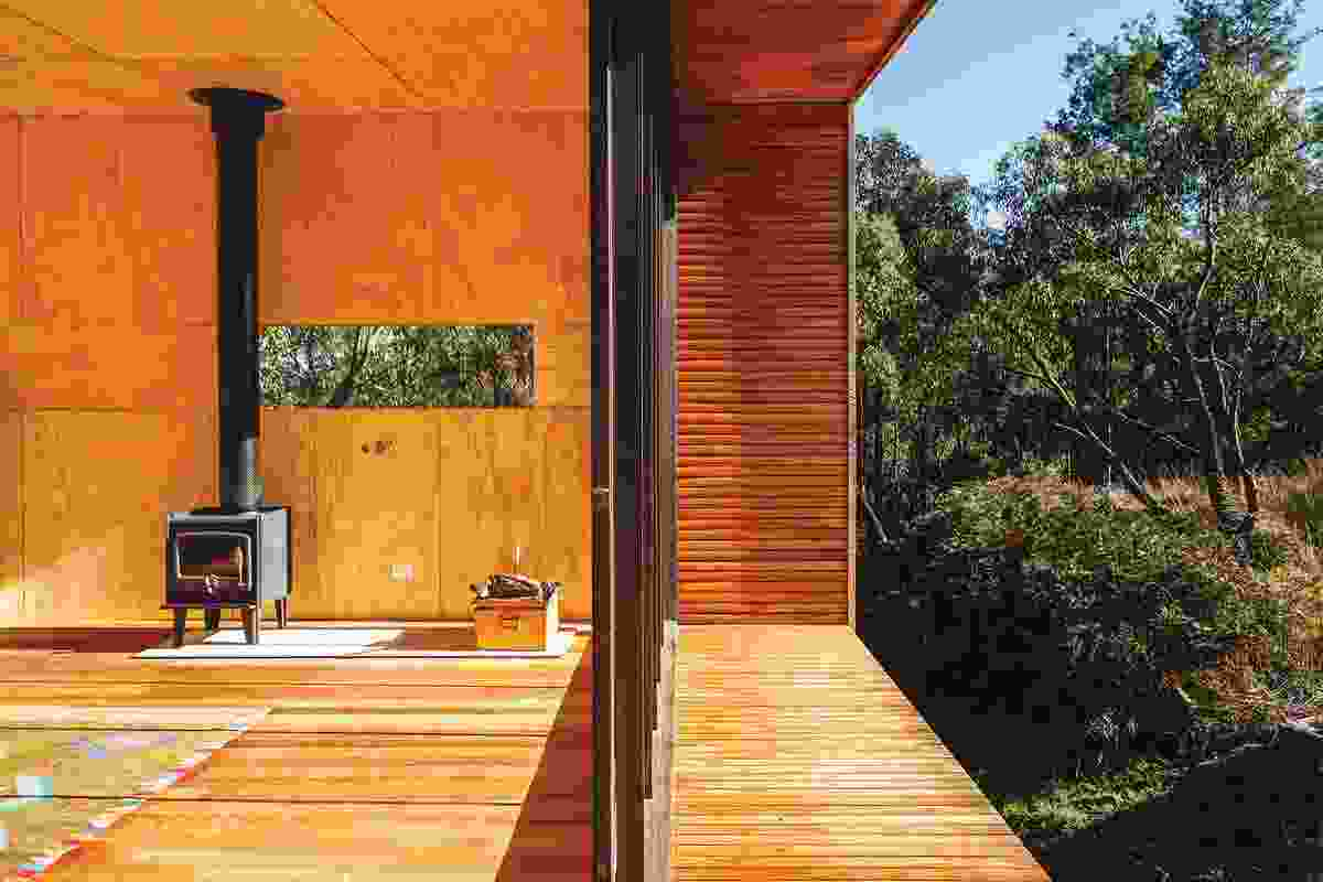 """The deep, timber-lined reveals on the north and south thresholds exaggerate the idea of the internal space being """"wrapped."""""""