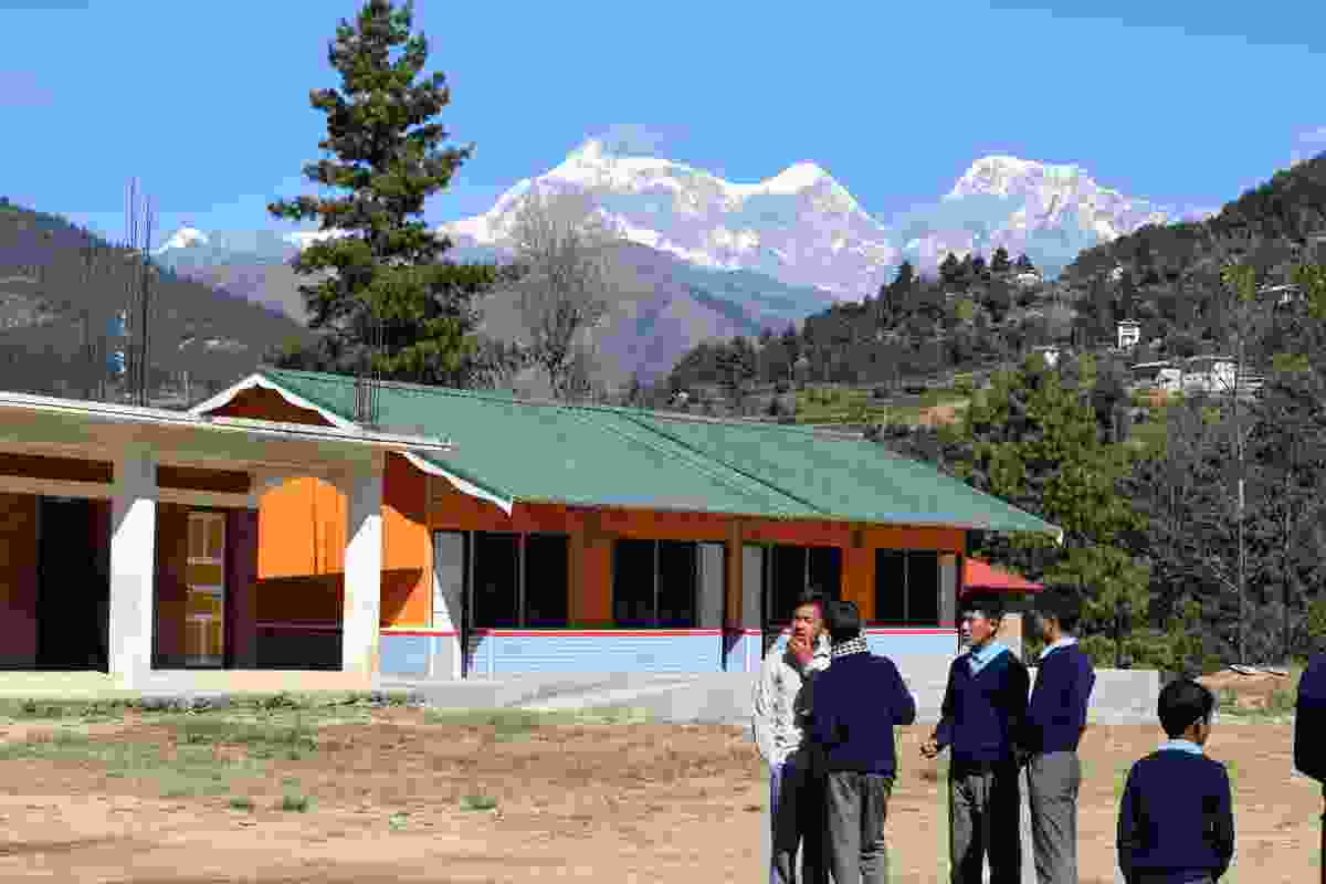 New school building in Garma, Nepal.