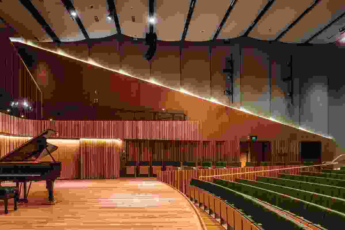The building provides three major practice 