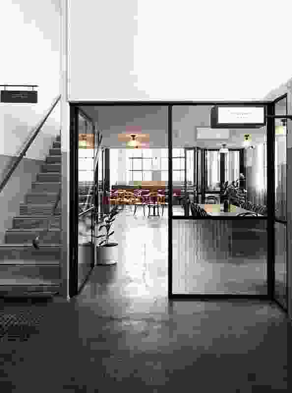 The cafe includes a boardroom space that can be closed off to diners.