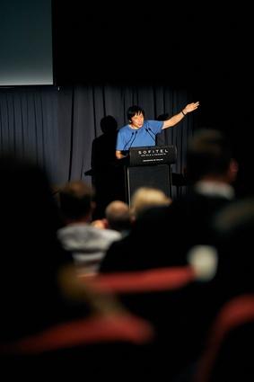 Keynote speaker Takaharu Tezuka, president of Tezuka Architects and a professor at Tokyo City University