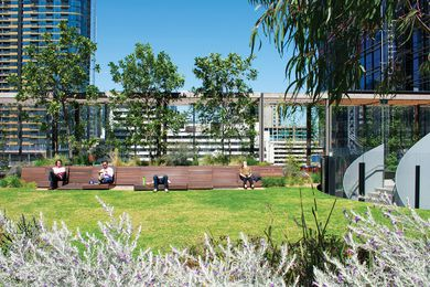 The Sky Park forms part of the public space component of One Melbourne Quarter, the first stage of the greater Melbourne Quarter development.