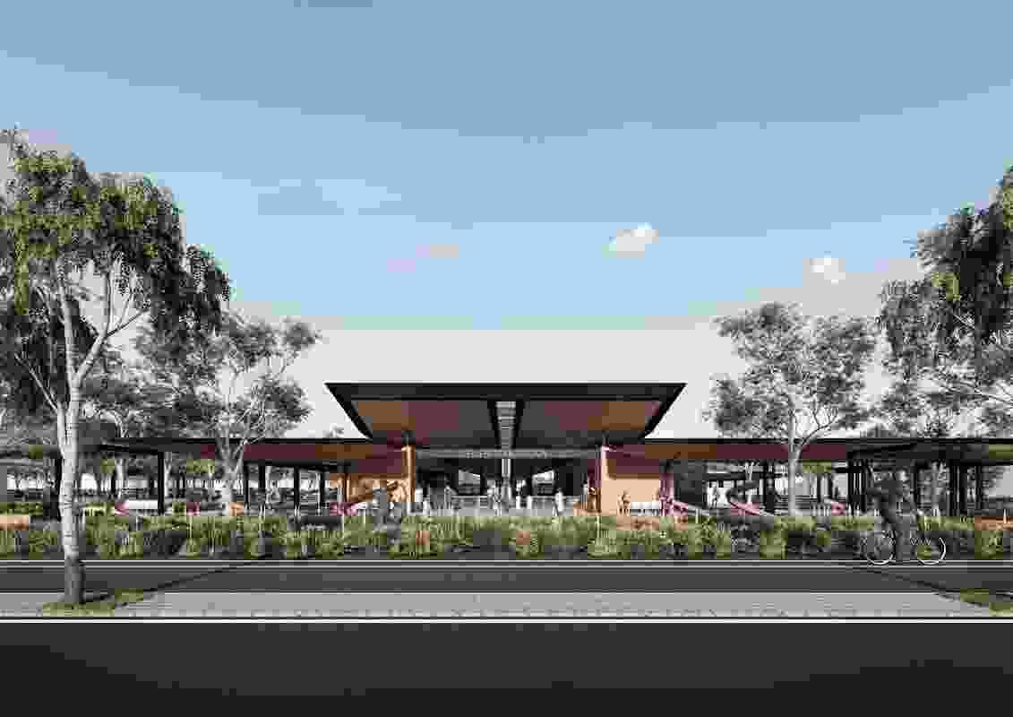 Ellenbrook Station设计由Woods Bagot,Taylor Robinson Chaney Broderick,TCL和Udla。