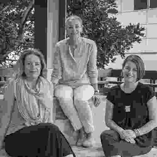 The Forecast creative directors, Di Snape (left), Dr Catherin Bull (centre) and Sharon Mackay (right).