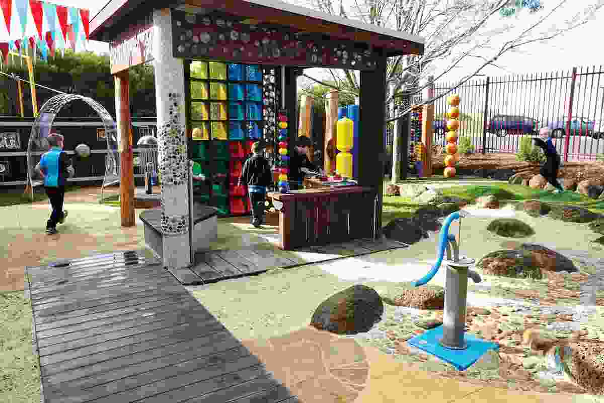 At Marnabek School, a kaleidoscope of colours and textures offers students a vibrant and multisensory environment.