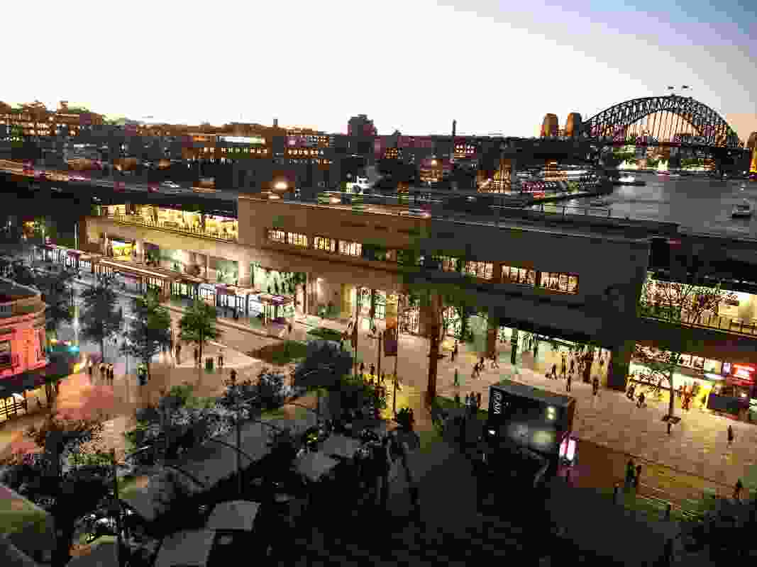 Design of the Sydney CBD and South East Light Rail stop at Circular Quay by Grimshaw Architects.