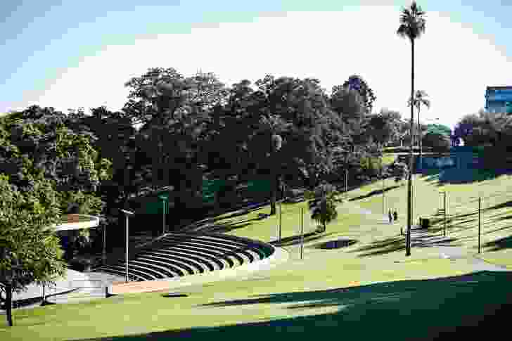 The amphitheatre is used for community events and festivals.