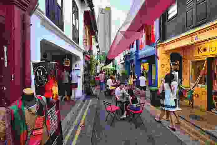 Areas like Haji Lane contribute to the unique fabric of Singapore.