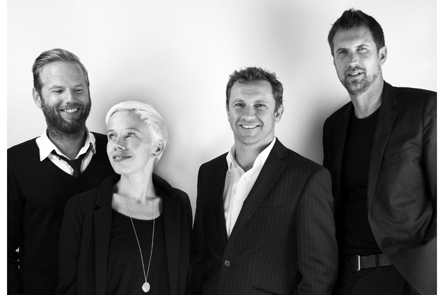 Creative directors of <em>Formations: new practices in Australian architecture</em> (from left): TOKO Concept Design, Anthony Burke, Gerard Reinmuth.
