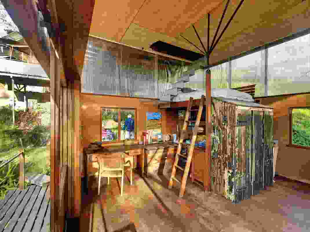 As children grew, spaces such as the original studio under the summer room were transformed.