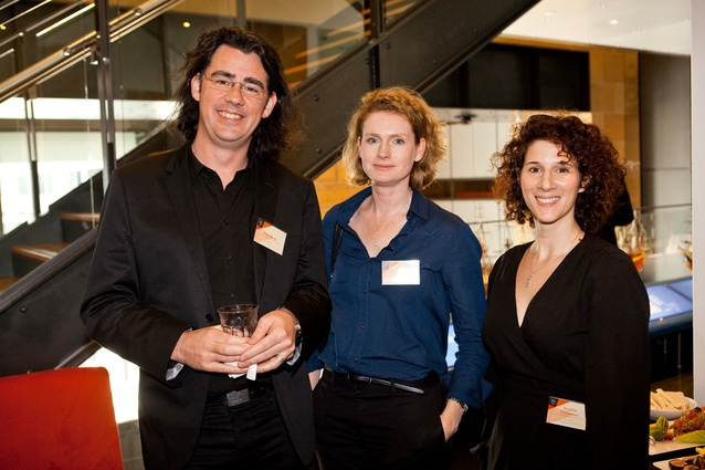 Design Speaks: Workplace/Worklife 2013  delegates (L–R): Paul Reidy (Rice Daubney), Cate Cowlishaw (Group GSA) and Angela O'Connor (Group GSA).