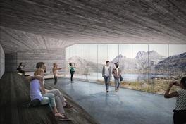 Cumulus Studio designs 'meditative and reverent' lakeside viewing shelter