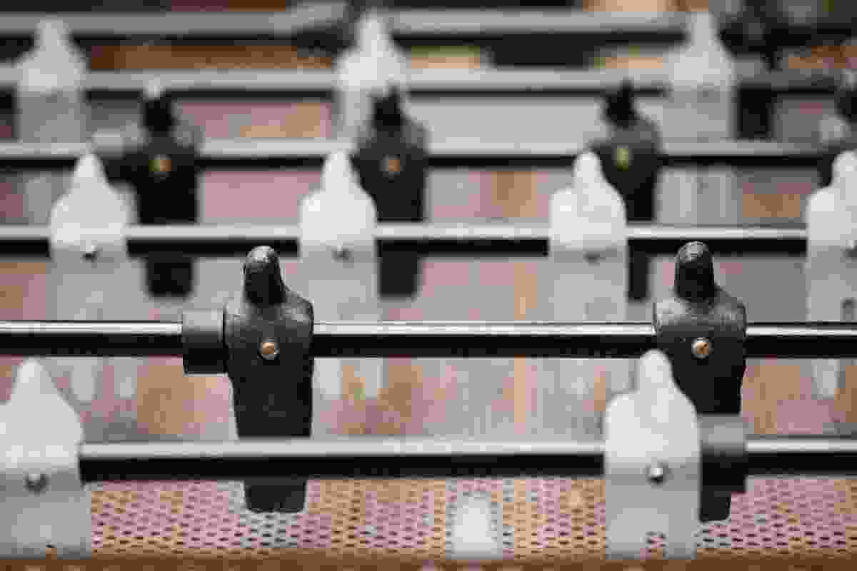 Individual foosball teams were made by a network of collaborators.