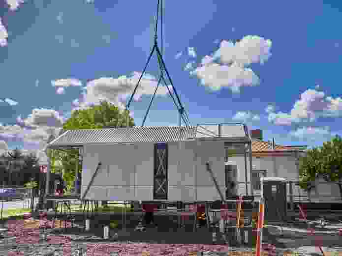 The units are fabricated in Horsham and transported to the VicRoads sites.