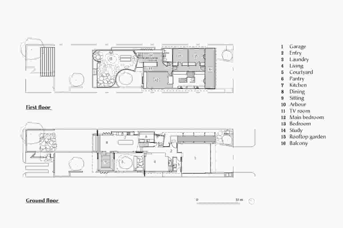 Plans of Gibbon Street by Cavill Architects.