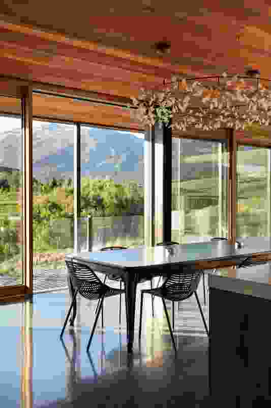 Large-scale, high-performance, triple-glazed windows on the central floor allow the views in while keeping the cold out.