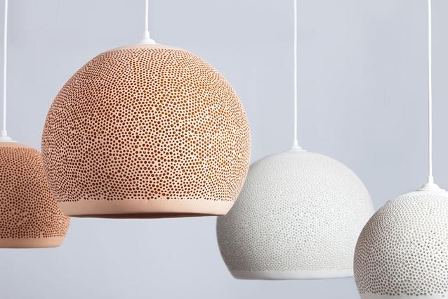 SpongeUp pendant lights from Pott.