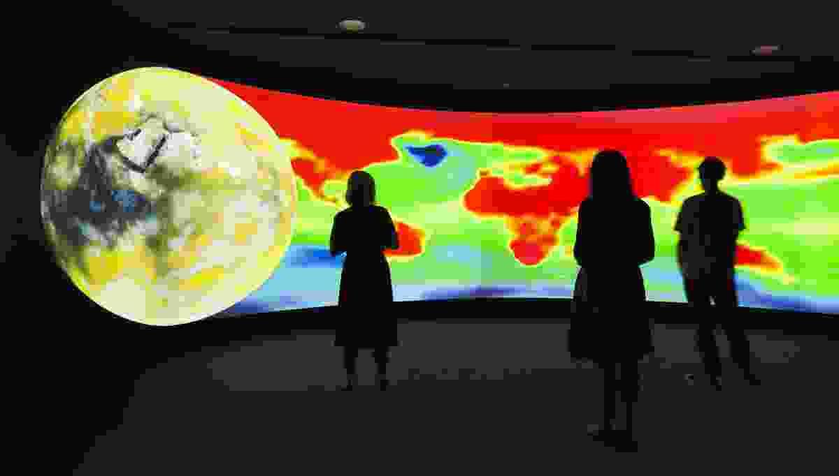 All images: Exit (installation views at UNSW Galleries), 2008–2015. Collection Fondation Cartier pour l'art contemporain, Paris. Diller Scofidio + Renfro, Mark Hansen, Laura Kurgan and Ben Rubin, in collaboration with Robert Gerard Pietrusko and Stewart Smith.
