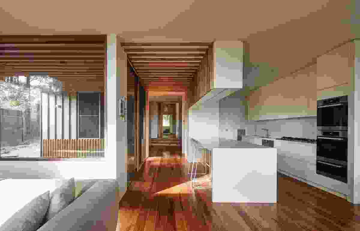 The planning of the interior spaces was based on sight lines and passive surveillance.