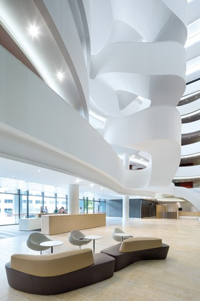 "Described as the ""interior organic heart,"" the atrium provides a breathtaking moment when you first enter."