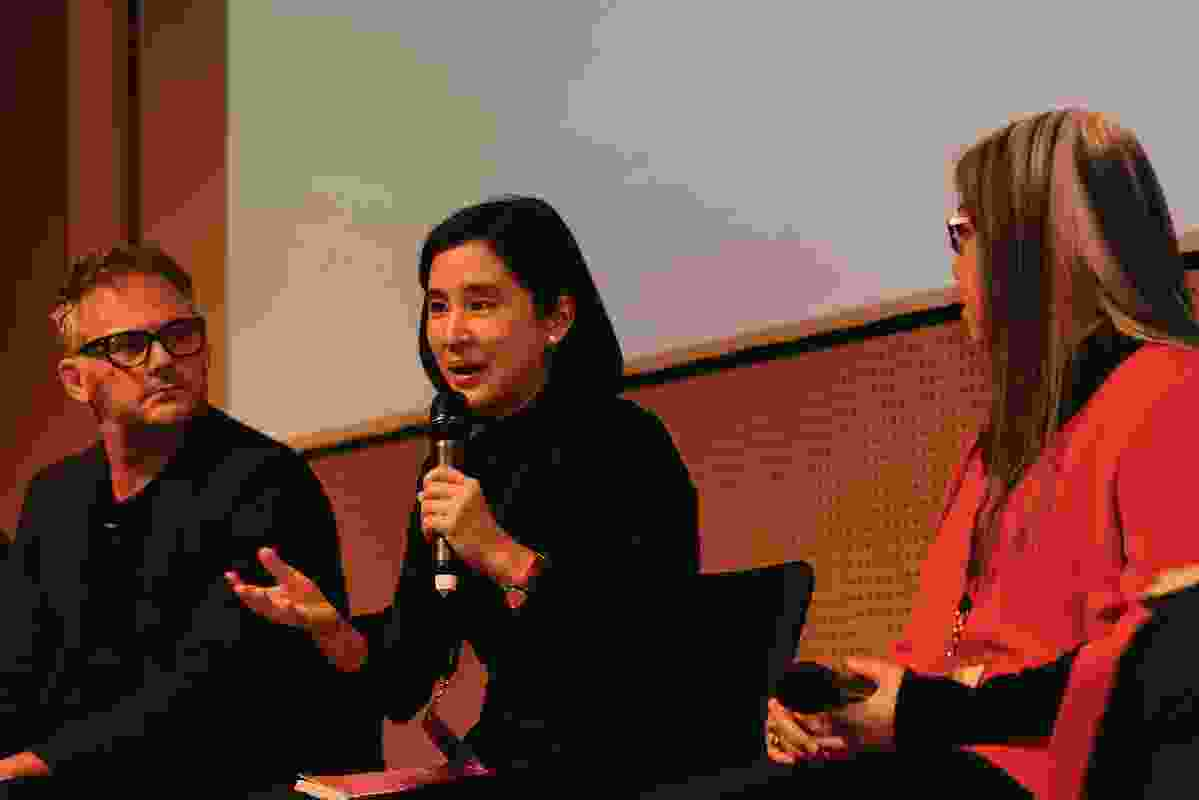 Sanitas Pradittassnee of Bangkok-based Sanitas Studio during the panel discussion.