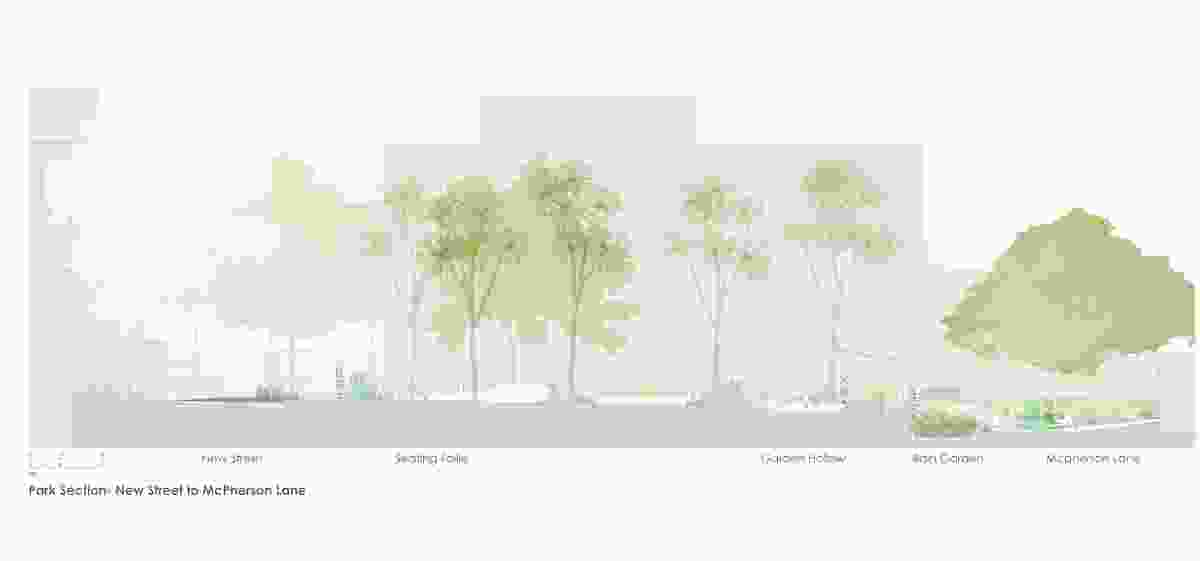 Section of the 904 Bourke Street Park designed by Sue Barnsley Design.