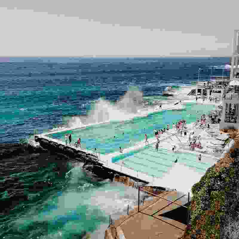 The Bondi Baths in Sydney, one of New South Wales' most well-known ocean pools.