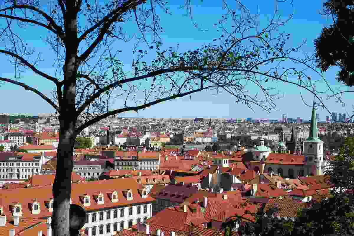 View of the city from Prague Castle.