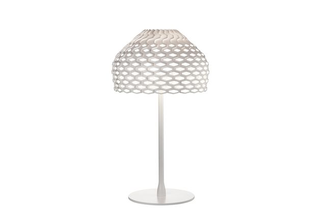 Tatou table lamp by Patricia Urquiola in white.