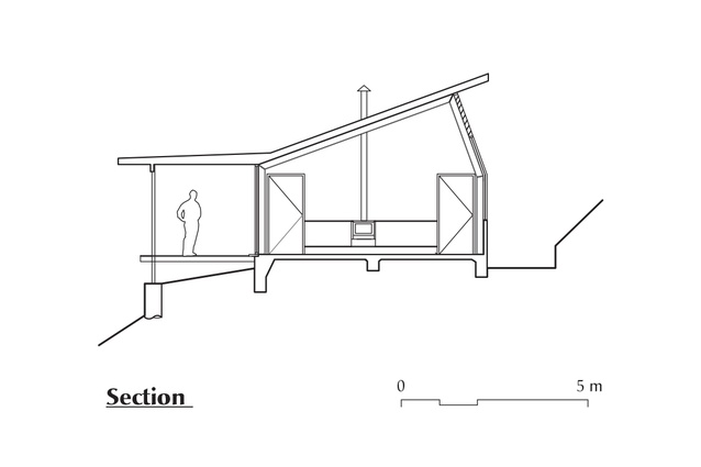 Section of Possum Shoot Shed by Dominic Finlay Jones Architects.