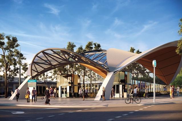 Sydney Metro Northwest's Showground station, designed by Hassell.