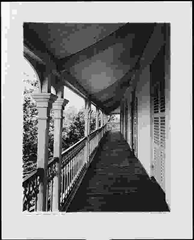 Richard Stringer, Balcony Gooloowan, 1985 (printed 2006), silver gelatin photograph.