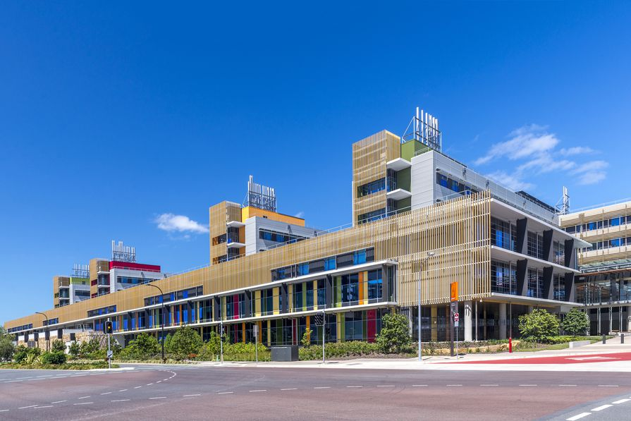 Sunshine Coast University Hospital by Architectus Brisbane and HDR Rice Daubney as Sunshine Coast Architects was awarded with the Gabriel Poole Award for Building of the Year.