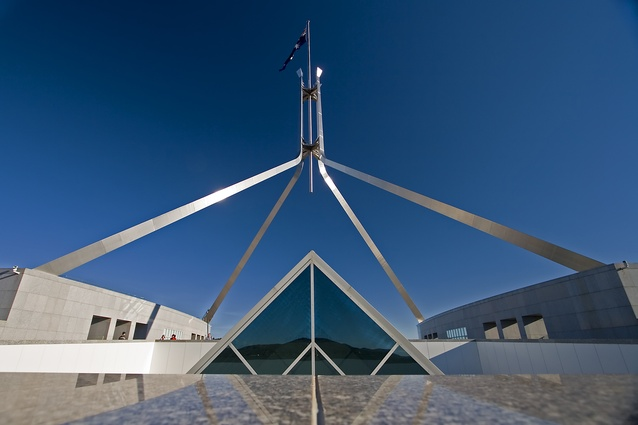 Parliament House by Mitchell Giurgola and Thorp.