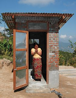 One of fifty-two new toilets by Healthabitat in Bhattedande, Nepal. Photograph Srijan Bajracharya.