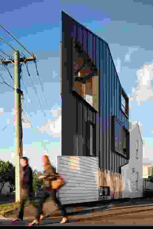 Acute House (Vic) by OOF! Architecture (architecture and interior design) in collaboration with JPILD (interior design).